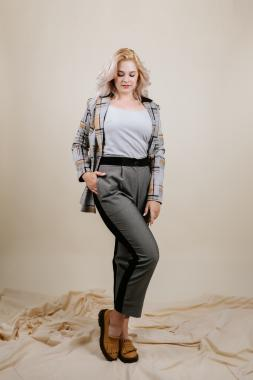 Костюм с джинсовой вставкой