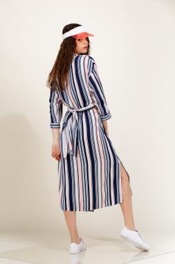 Платье рубашка в полоску