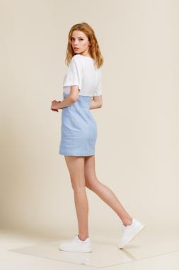 Платье мини джинс