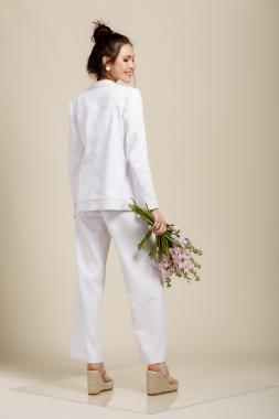 Жакет джинсовый белый